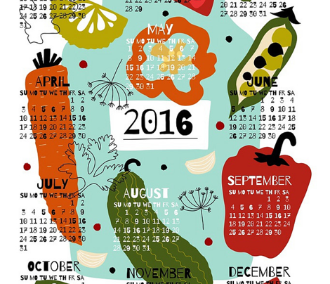 Pickles Tea Towel Calendar 2016 by oleynikka