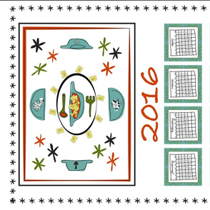 Retro Tea Towel Calendar