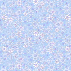 Blue & Purple Snowflake Pattern
