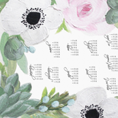 2016 Floral Tea Towel
