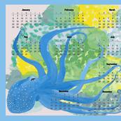 Blue Octopus' Garden 2017 Calendar - Horizontal