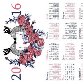 Roses and Deer: 2016 Calendar