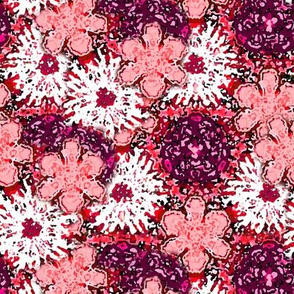 Impressionistic Pink Floral