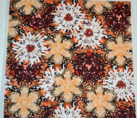 Impressionistic Brown Floral