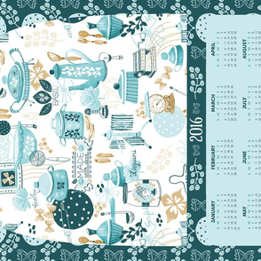 Made with Love Pasta Kitchen 2016 Tea Towel Calendar