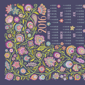 2016 Tea Towel Calendar-Let Your Soul Blossom and Grow