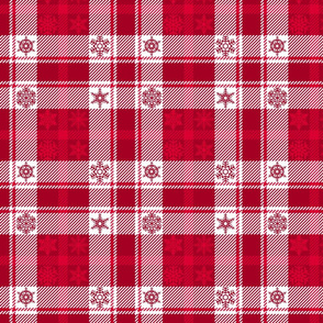 Snowflake Plaid 165 Red