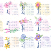 Blooms in Season Tea Towel Calendar
