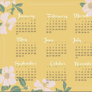 Spring Garden Tea Towel Calendar