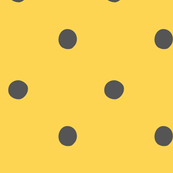 polka dots - black on yellow