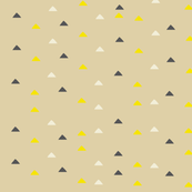 tiny triangles - brown yellow black