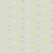 tiny triangles - pink yellow gray