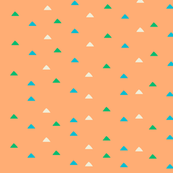 tiny triangles - pink green blue