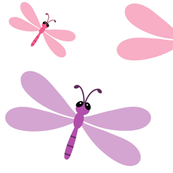 Dragonflies pink purple 63k - XXL