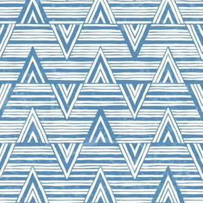 Hand-drawn blue pattern