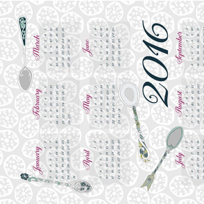 2016 Spoons Tea Towel Calendar