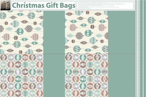 Cookie Colour Christmas Gift Bags