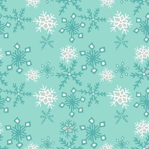 Animal Dream Polar Bear Teal Snowflake