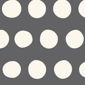 Jumbo Dots: Charcoal