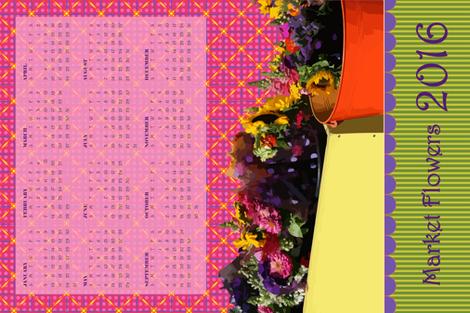 Market Flowers 2016 Tea Towel Calendar