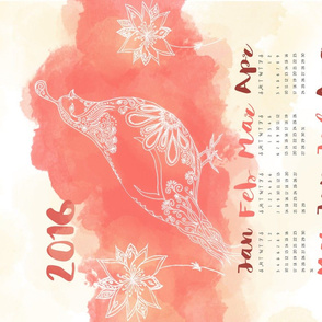 Desert Beauty Tea Towel Calendar 2016