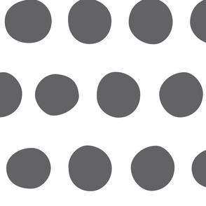 Jumbo Dots: Charcoal on White