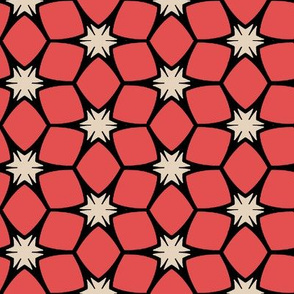 Bright Pink Geometric Stars