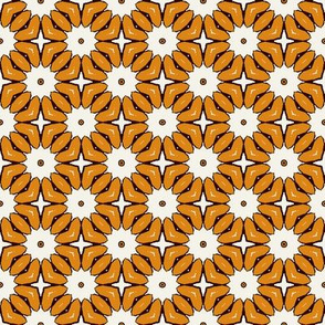 Dark Yellow Floral Blocks