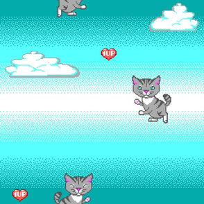 Pixel Cat EGA 1UP
