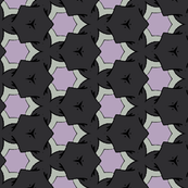 Small Scale Geometric in Gray and Purple