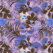 botanical sketch purple