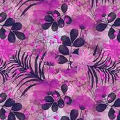 botanical sketch pink