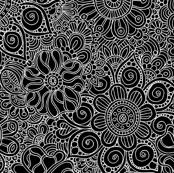 Field of Flowers in Black