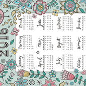 2016 Tea towel Calendar A Beautiful Day in the Backyard
