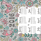 2016 Tea Towel Calendar  Birds in the Backyard