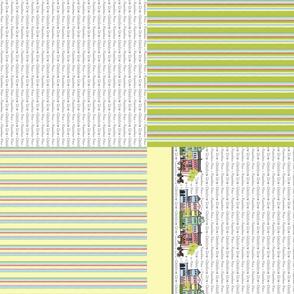 Rainbow Row Set of 4 Tea Towels