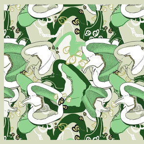 green pepper tea towel