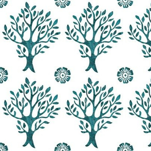 white-tree-stamp-VECTOR-w-corner-flwrs-FULLSIZE4in-150-lgdpforestgrnbatiktree-white
