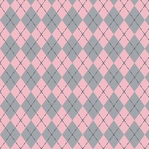 Pink Gray Gym Argyle