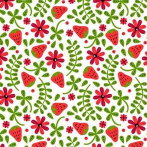 Strawberry Toss (White)