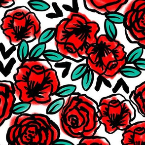roses // fashion illustration print for girls