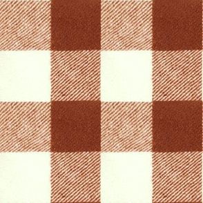 "2"" Wool Buffalo Check in Brick Red"