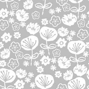 florals // neutral grey flowers floral repeat for fashion prints and home decor textiles