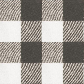 Two Inch Wool Buffalo Check in Cashmere