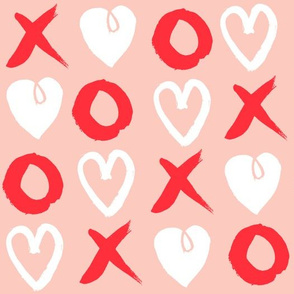 xoxo hearts // red and pink valentines love design