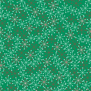 Atomic Snowflakes Medium- Green