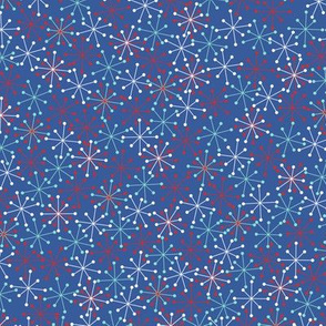 Atomic Snowflakes Medium- Blue
