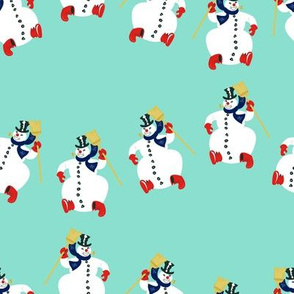 Frosty Parade Lg Scale- Turquoise