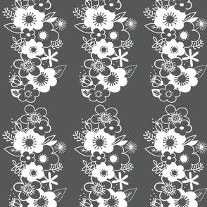 Long Floral Pattern (Grey)