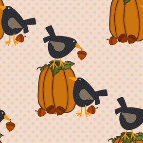 Prim Crows and Pumpkins